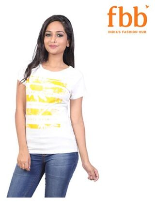 Lee Cooper Printed Womens White Tops & Tunics