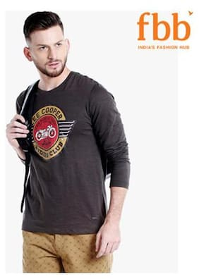 Lee Cooper Printed Mens Brown T-shirt