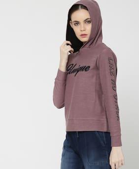 Lee Cooper Women Printed Sweatshirt - Purple