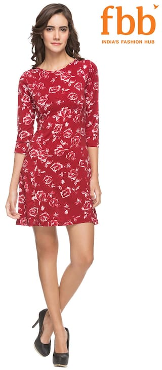Printed Women's Cooper Dress Red Lee 4R605qwR