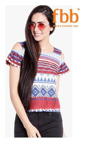 Lee Cooper Striped Womens Blue Top