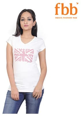 Lee Cooper Solid Womens White Tops & Tunics