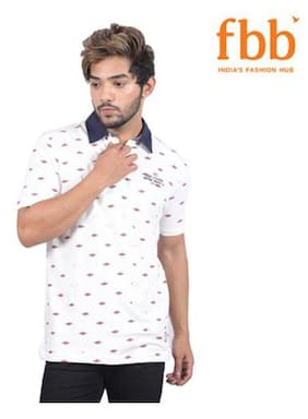 Lee Cooper solid Mens White T-shirt