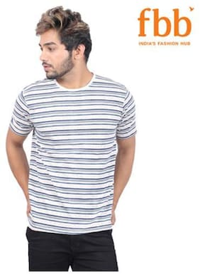 Lee Cooper Striped Mens Grey T-shirt