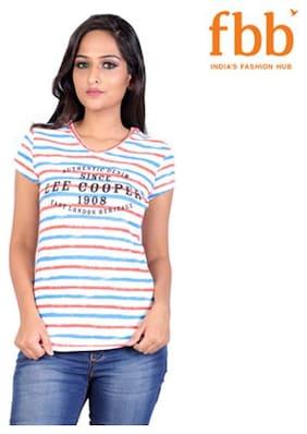 Lee Cooper Striped Womens Multi Color Tops & Tunics