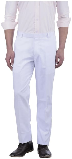 Men Regular Fit Regular Trousers