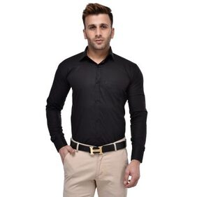 Hangup Men's Formal Black Shirt