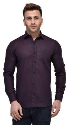 Hangup Men Regular Fit Casual shirt - Purple