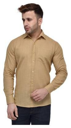 Hangup Men Regular Fit Casual shirt - Brown