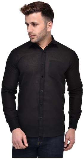 Hangup Men Slim Fit Casual shirt - Black