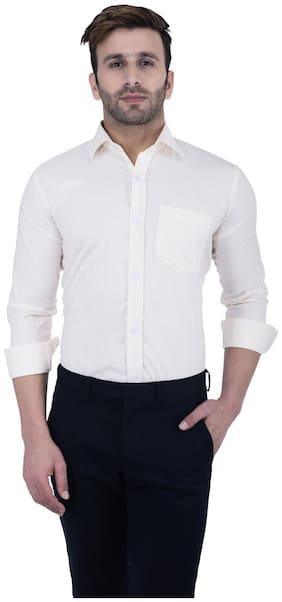 Hangup Men Regular Fit Formal Shirt - White