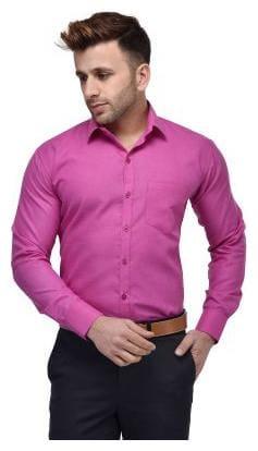 Hangup Men Slim fit Formal Shirt - Pink