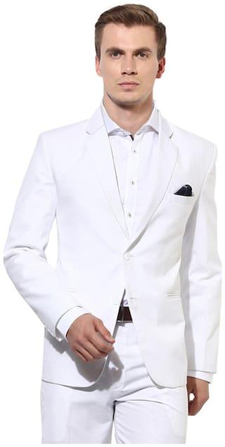 Hangup mens white 2 button blazer size:40