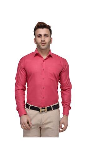 Buy Lee Marc Men's Formal Deep Pink Shirt Online at Low Prices in ...