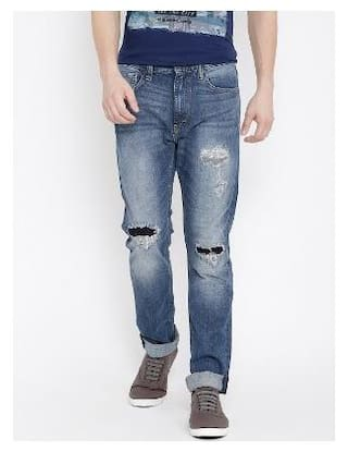 9b3ee368 Buy Lee Men Mid Rise Regular Fit ( Macky ) Jeans - Blue Online at ...