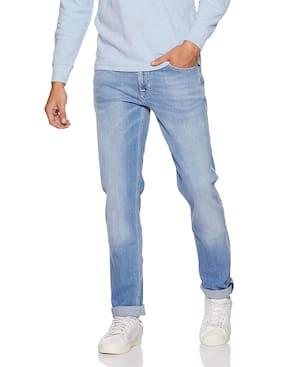 Lee Men Mid Rise Slim Fit ( Bruce ) Jeans - Blue