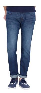Lee Men's Mid Rise Slim Fit Jeans - Blue