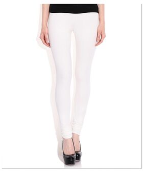 Legemat White Cotton Lycra Legging