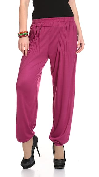 a3971a2b16 Buy Legis Red Lycra Harem Pant Online at Low Prices in India ...