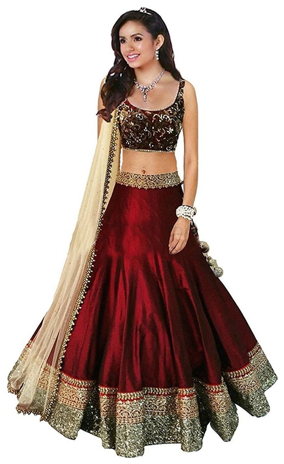 e81bffbb2ee08 https://assetscdn1.paytm.com/images/catalog/product/. Varibha Bollywood Designer  Lehenga Choli Maroon & YELLOW Party Wear Silk Lehenga ( best birthday ...