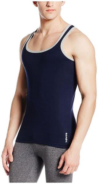 Levi's  Men's Solid Cotton Vest (Pack of 2