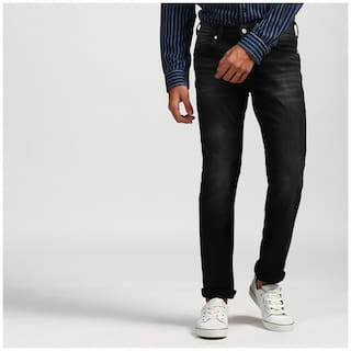 a9fa86c2232 Buy Levi s Mens Black 504 Skinny Fit Low Rise Jeans Online at Low ...