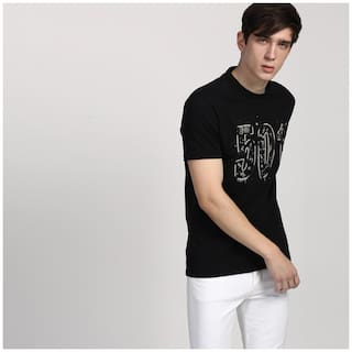 29778da9 Buy Levi's Men Slim fit Round neck Printed T-Shirt - Black Online at ...