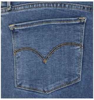 Levi's Women Black Cotton Skinny Fit Jeans (711)