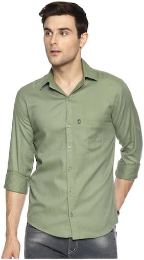 LEVIZO Men Regular fit Formal Shirt - Green