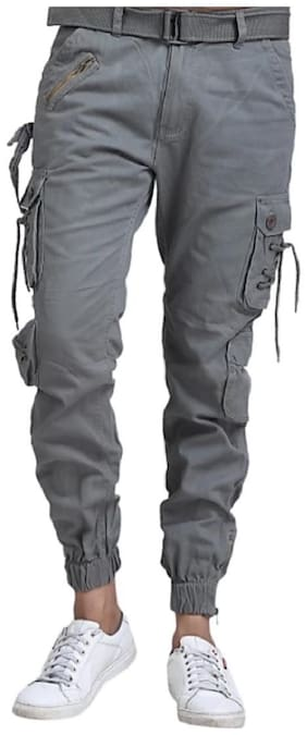 LEZENDARY APPARELS Men Stylish and Trendy Dori Style Cargo - Dark Grey
