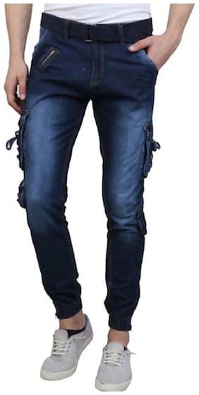 LEZENDARY APPARELS Men Stylish and Trendy Dori Style Cargo - Denim Blue