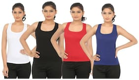 LIAS Women Solid Round neck T shirt - Multi