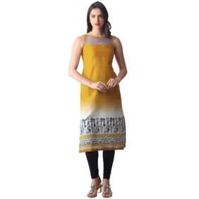 Libas Yellow Printed Kurta