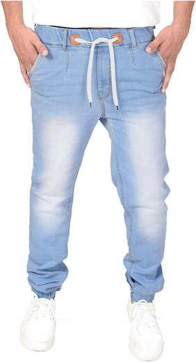 Light Blue Jogger Fit Men Jeans