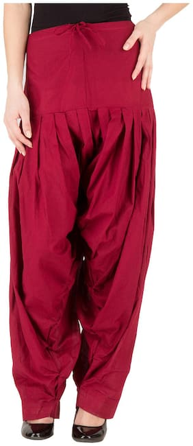 LILI Cotton Patiala - Maroon
