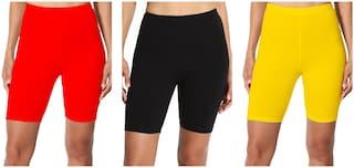 LILI Women Solid Regular shorts - Multi