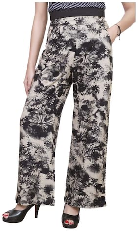 Lili Casual Regular Rayon Flower Print Palazzo Pants