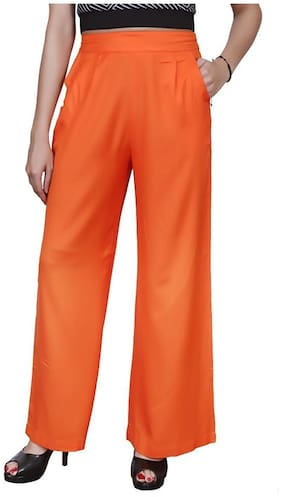 Lili Plain, Comfortable, Stylish, Casual, Regular Fit, Rayon Palazzo Pants