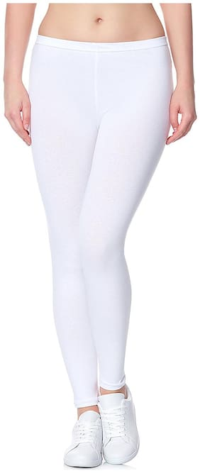 Lili Ultra Super Soft 220 GSM Stretch Bio Wash Ankle Length Leggings Regular Sizes 20 Plus Solid Colors