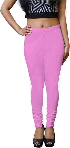 Lili Ultra Super Soft 220 GSM Stretch Bio Wash Churidar Leggings Regular Sizes 20 Plus Solid Colors