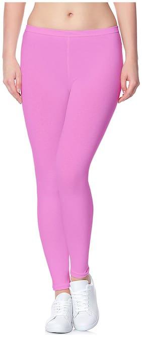 Lili Ultra Super Soft 220 GSM Stretch Bio Wash Ankle Length Leggings Regular Sizes 20 Plus Solid Colors
