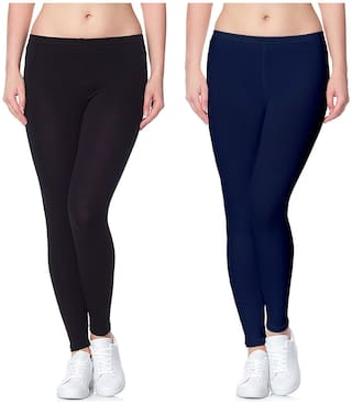 Lili Ultra Super Soft 220 GSM Stretch Bio Wash Ankle Length Leggings Regular Sizes 20 Plus Solid Colors Pack of 56