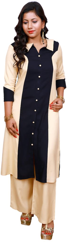 LILI Women Multi Embroidered Angrakha Kurti