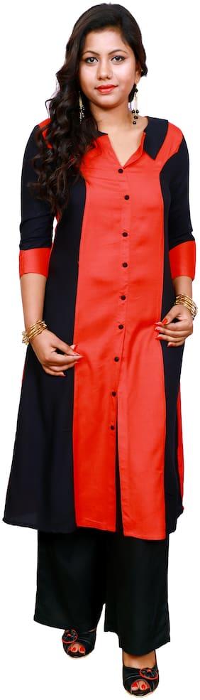 LILI Women Multi Embroidered Angrakha Kurti