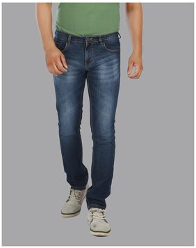 Lisova Blue denim Washed Jeans