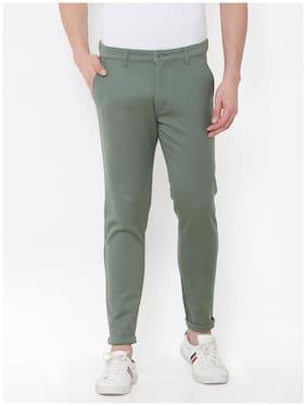 Livewire Men Green Solid Slim fit Regular trousers