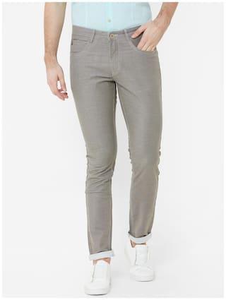 Livewire Men Brown Solid Slim fit Regular trousers