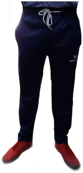 Livster Hosiery Cotton Trackpant Blue
