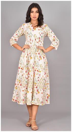 Women Floral Anarkali Kurta Dress