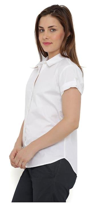 Sleeve Cabeza CZWT0118 Top Shirt Rayon White En Loco Short wU5ISxq